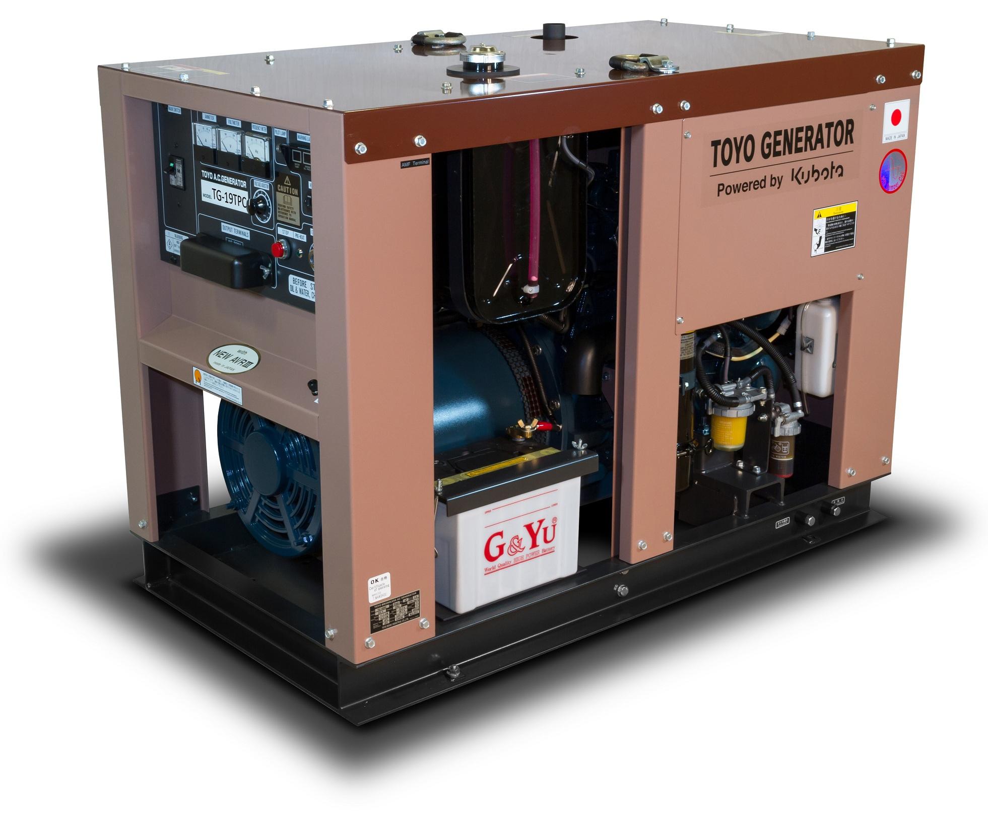 Дизельный генератор (электростанция) TOYO TG-19TPC